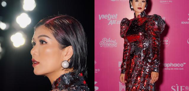 Hoa hậu 6 con Oanh Yến xuất hiện hút hồn cuốn hút tại chung kết Hoa hậu Việt Nam