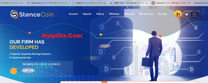 [SCAM] Review StenceCoin – Dự án đầu tư ổn định lãi từ 1.5% hằng ngày - Thanh toán tức thì