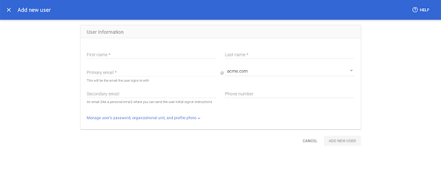 New streamlined experience for managing users and domains in the Admin console 1