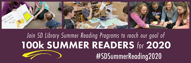 Join South Dakota Library Summer Reading Programs to reach our goal of 100K summer readers for 2020 #SDSummerReading2020