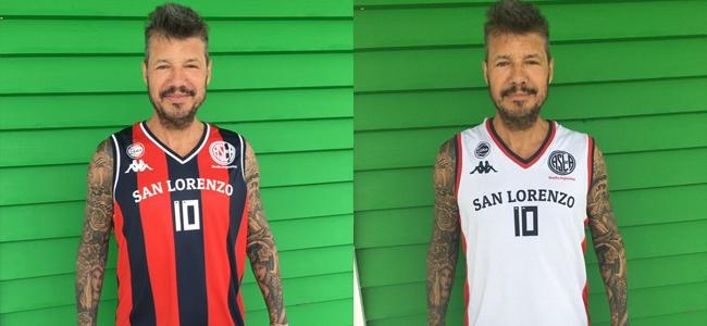 4f9757c048481 ... mostró las dos camisetas que esta noche San Lorenzo de Almagro  estrenará ante Ferro en la reanudación del torneo. La nueva marca de ropa  es Kappa.