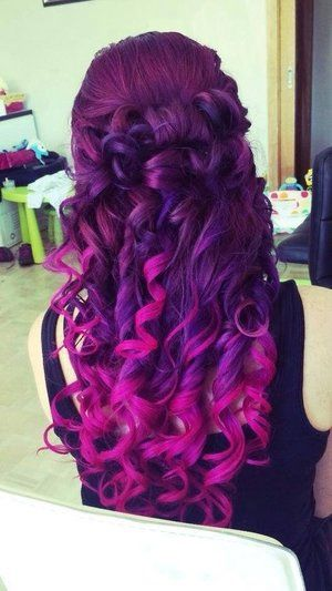 Astonishing Pink Purple Ombres The Haircut Web