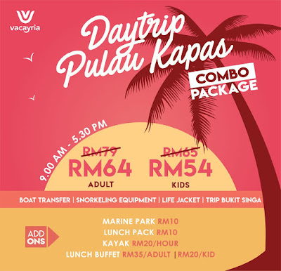 Pakej Day Trip Pulau Kapas