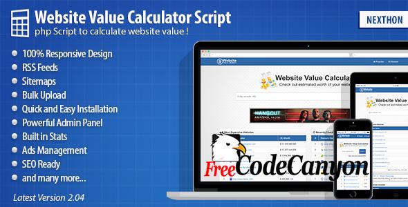 Website Value Calculator Script - FreeCodeCanyon
