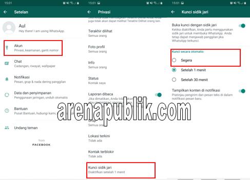 Mengaktifkan Fitur Sidik Jari Pada Whatsapp