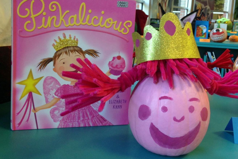 Pinkalicious inspired Story Book Pumpkin Character: