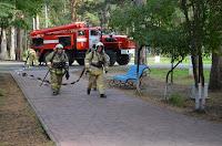 (ФОТО)Боевое развертывание пожарных