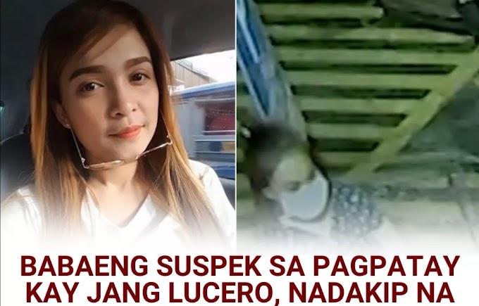 Babaeng suspek sa pagpatay kay Jang Lucero, nadakip na