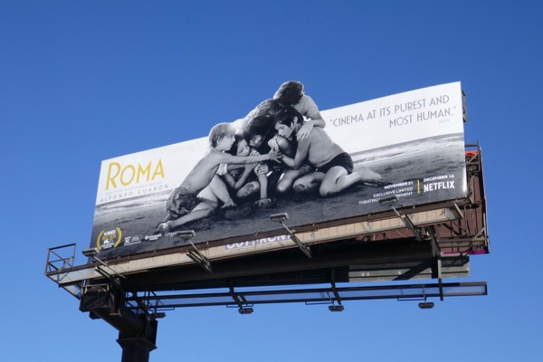 Roma movie extension cut-out billboard