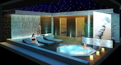 Perspective 3d centre aquatique spa ambiance zen