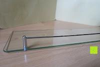 Seite: Badablage mit Glasboden und verchromter Reling 50 x 14 cm