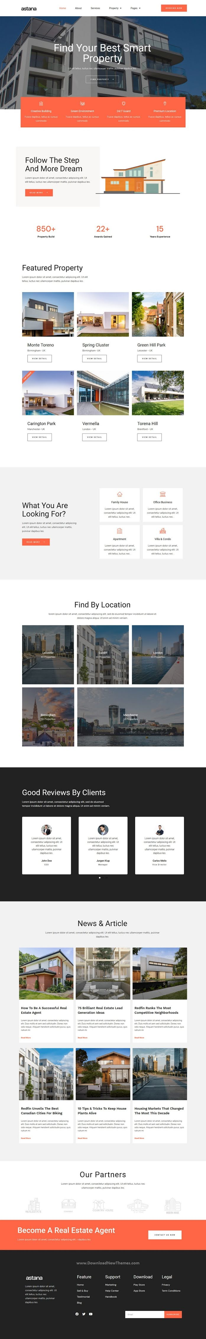 Real Estate and Architecture Elementor Template Kit