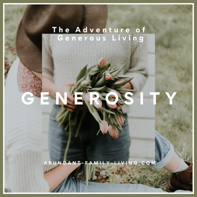 Generous Living - Generosity