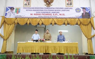 Joko Umar Said : Program Beasiswa Polinela dari Gubernur Ridho Banyak Memberi Manfaat