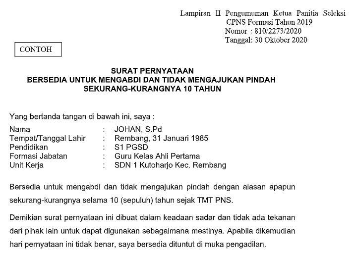 LAMPIRAN 2 HASIL SELEKSI CPNS PEMERINTAH KABUPATEN REMBANG FORMASI TAHUN 2019