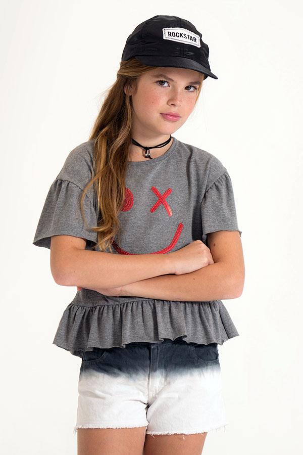 Remeras de moda para niñas 2018. Moda 2018 para niñas.