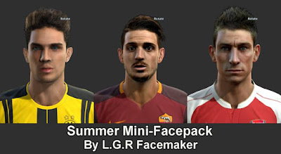 PES 2013 Summer Mini-Facepack By L.G.R Facemaker