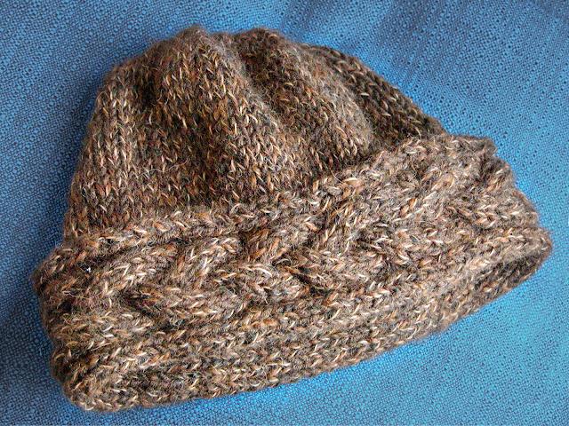 Alpaca and wool hat, by Moira Ravenscroft, Wyndlestraw Designs