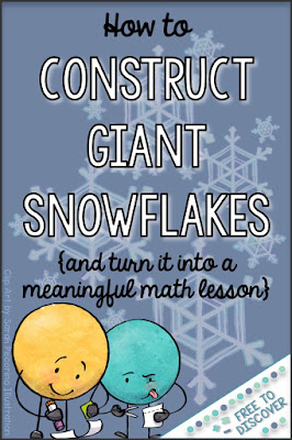 Constructing giant snowflakes is a hands-on way to keep students busy – and learning