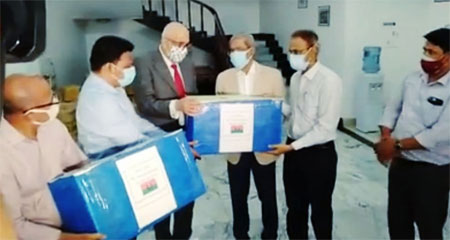 BNP has donated emergency medicine to the war-torn country of Palestine