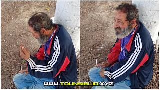 ( بالصور )سبرينغ لاند المنستير... الاعتداء على راجل يرقد و يعيش في شارع  بالحجارة على راسه والحماية ترفض إسعافه... ؟