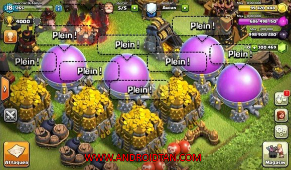 Clash Of Clans Mod Apk Unlimited Gold Elixir Gems