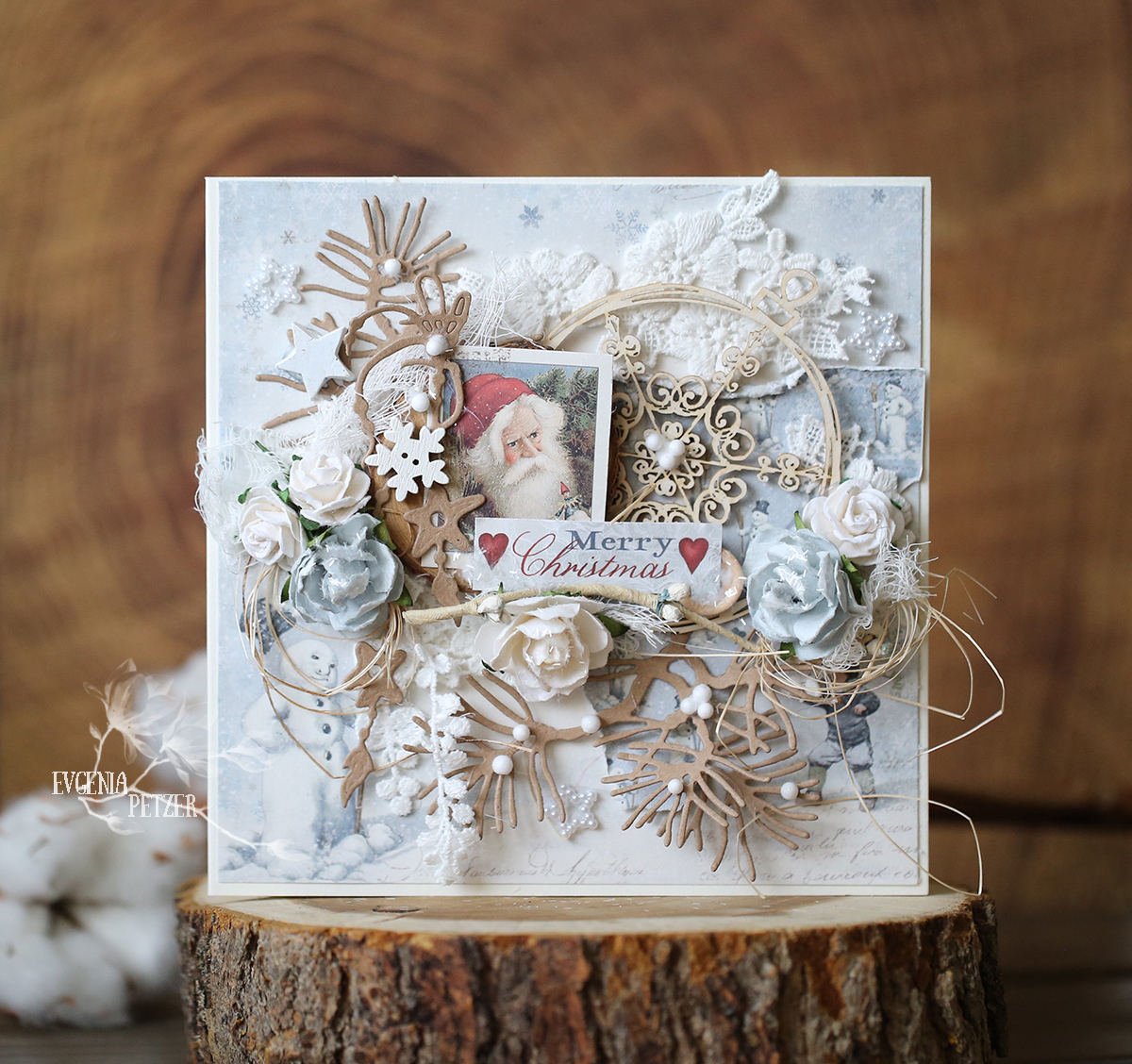 Wild Orchid Crafts: Rustic christmas card