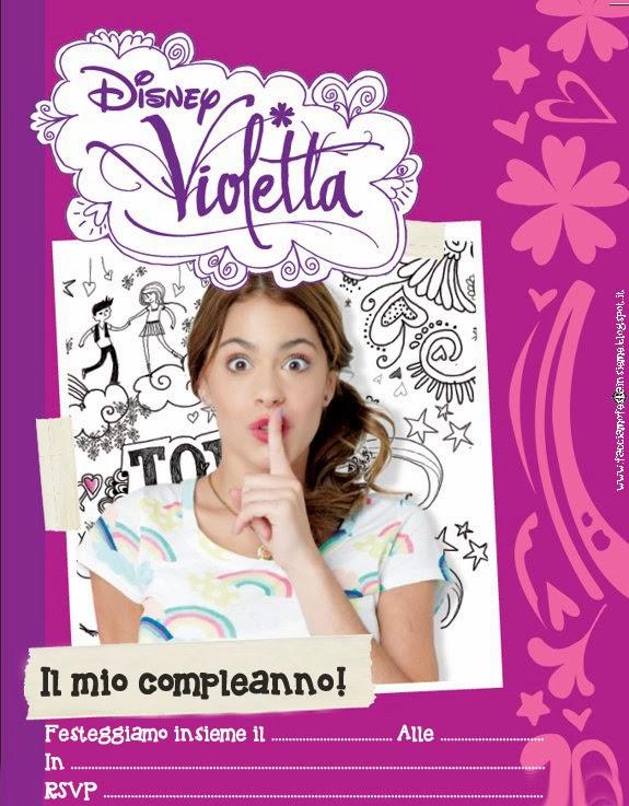 Super Invito di compleanno Violetta ~ Facciamo festa insieme SQ58