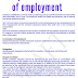 Template contracts of employment