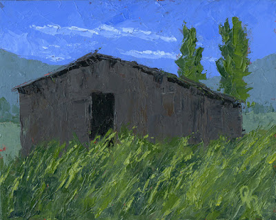 rural landscape barn green countryside spring