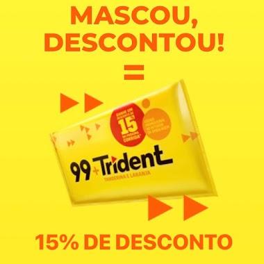 Masque Trident e Ganhe um Desconto de 15% no 99POP