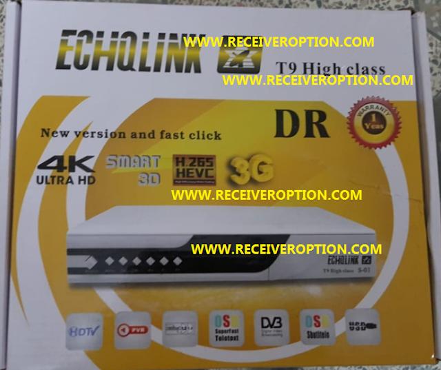 ECHQLINK T9 HIGH CLASS HD RECEIVER POWERVU KEY NEW SOFTWARE