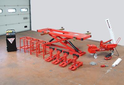 Cầu nâng kéo nắn xe tai nạn lắp nổi PL10C