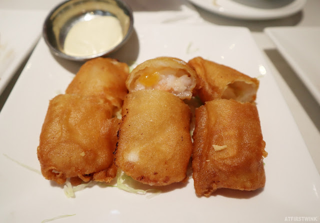 China Town dimsum & grill restaurant The Hague fried mango-shrimp roll (香芒明蝦筒)
