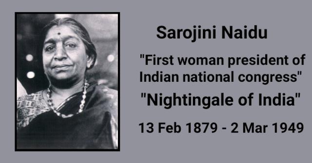 140th birth anniversary of Sarojini Naidu Sarojini Naidu Sarojini Naidu biography