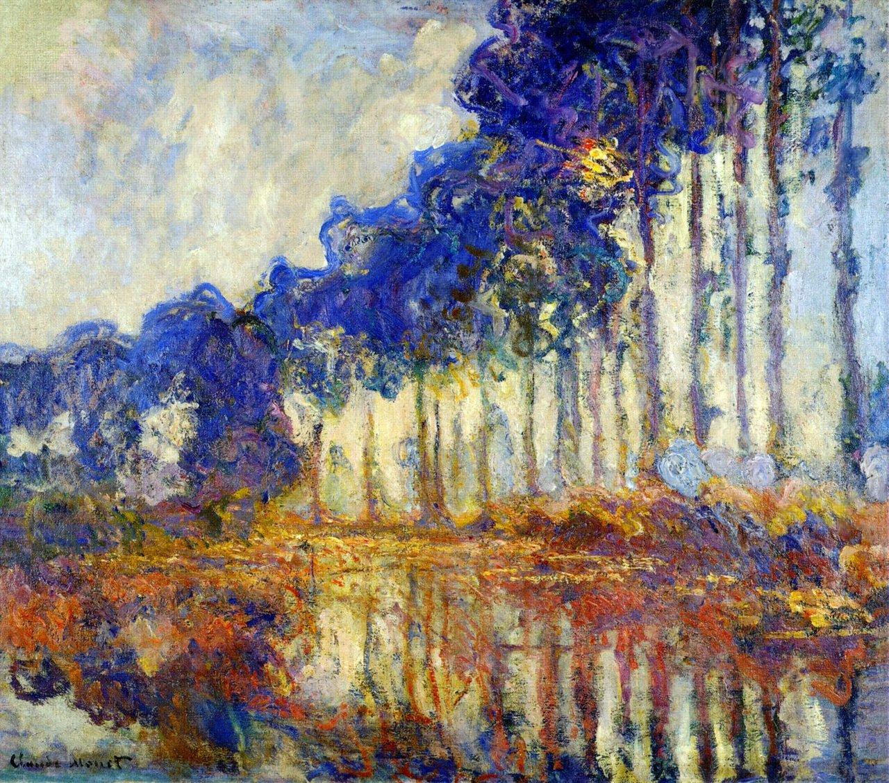 Monet: Arte!: Monet, Poplars And Water Lilies