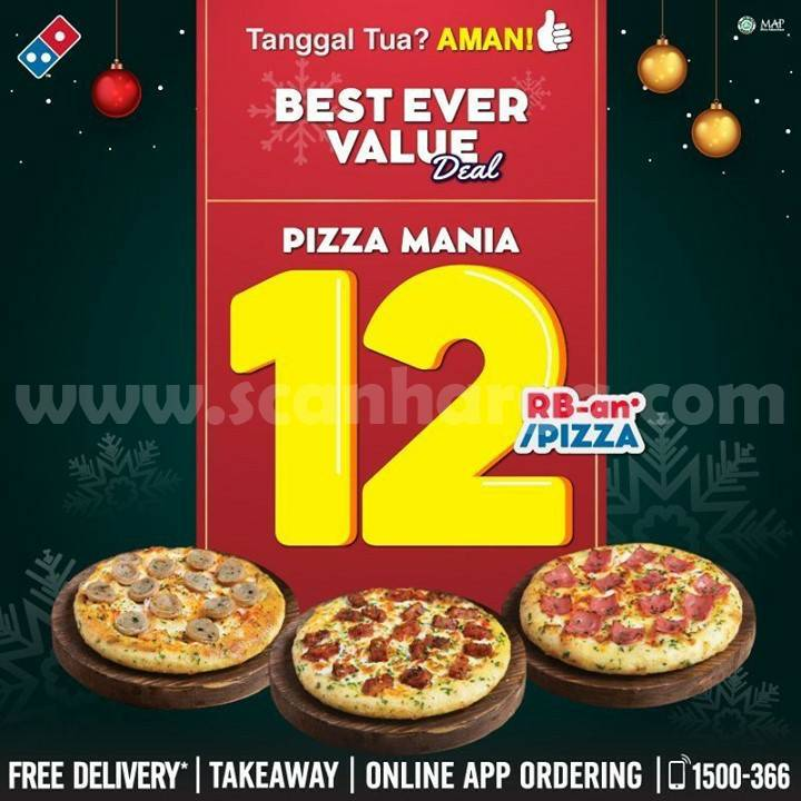 Dominos Pizza Promo Pizza Mania cuma Rp 12Rb-an
