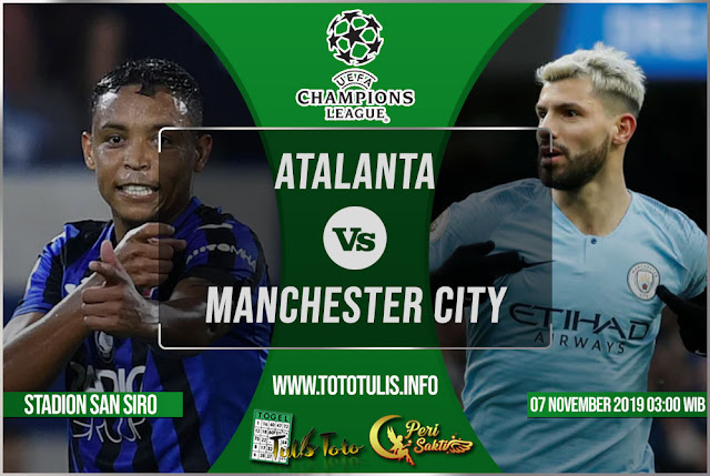 Prediksi Atalanta vs Manchester City 07 November 2019