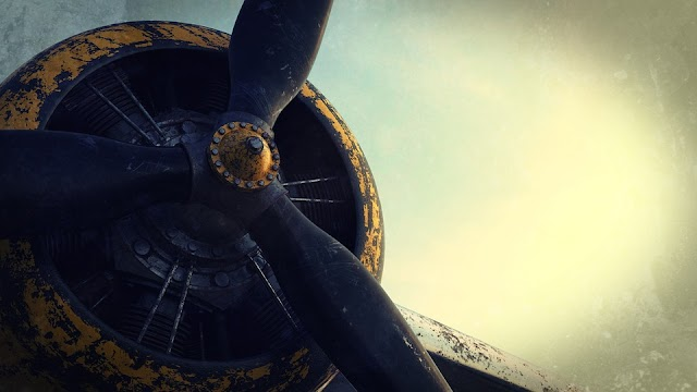 Propeller of an old aeroplane