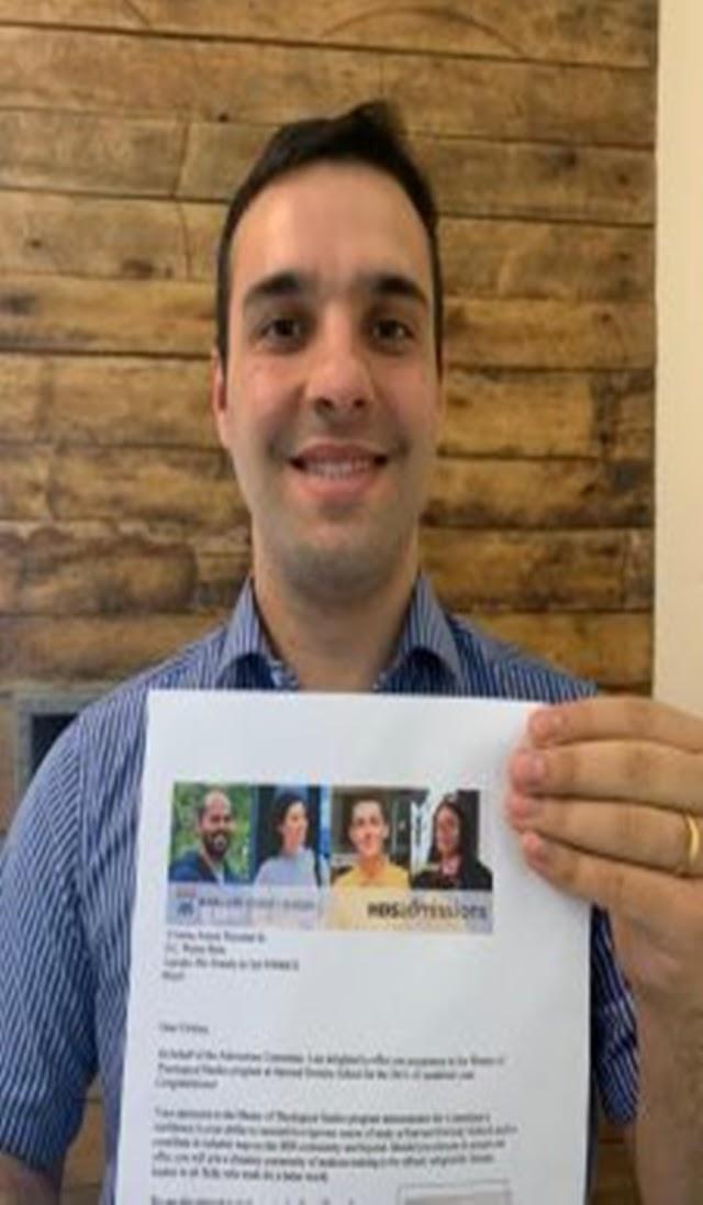 Milagre de Deus: Pastor Adventista Único brasileiro a ingressar no mestrado de teologia em Harvard