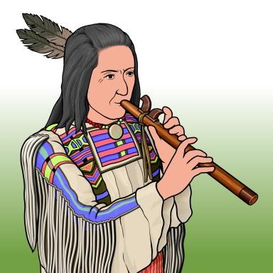 ネイティブ・アメリカンの縦笛 American flute