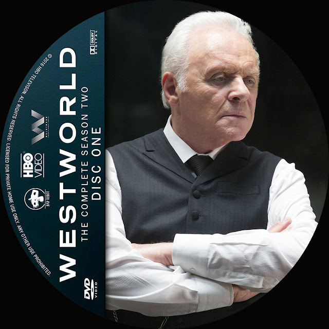 Label DVD Westworld Primeira Temporada Disco 1