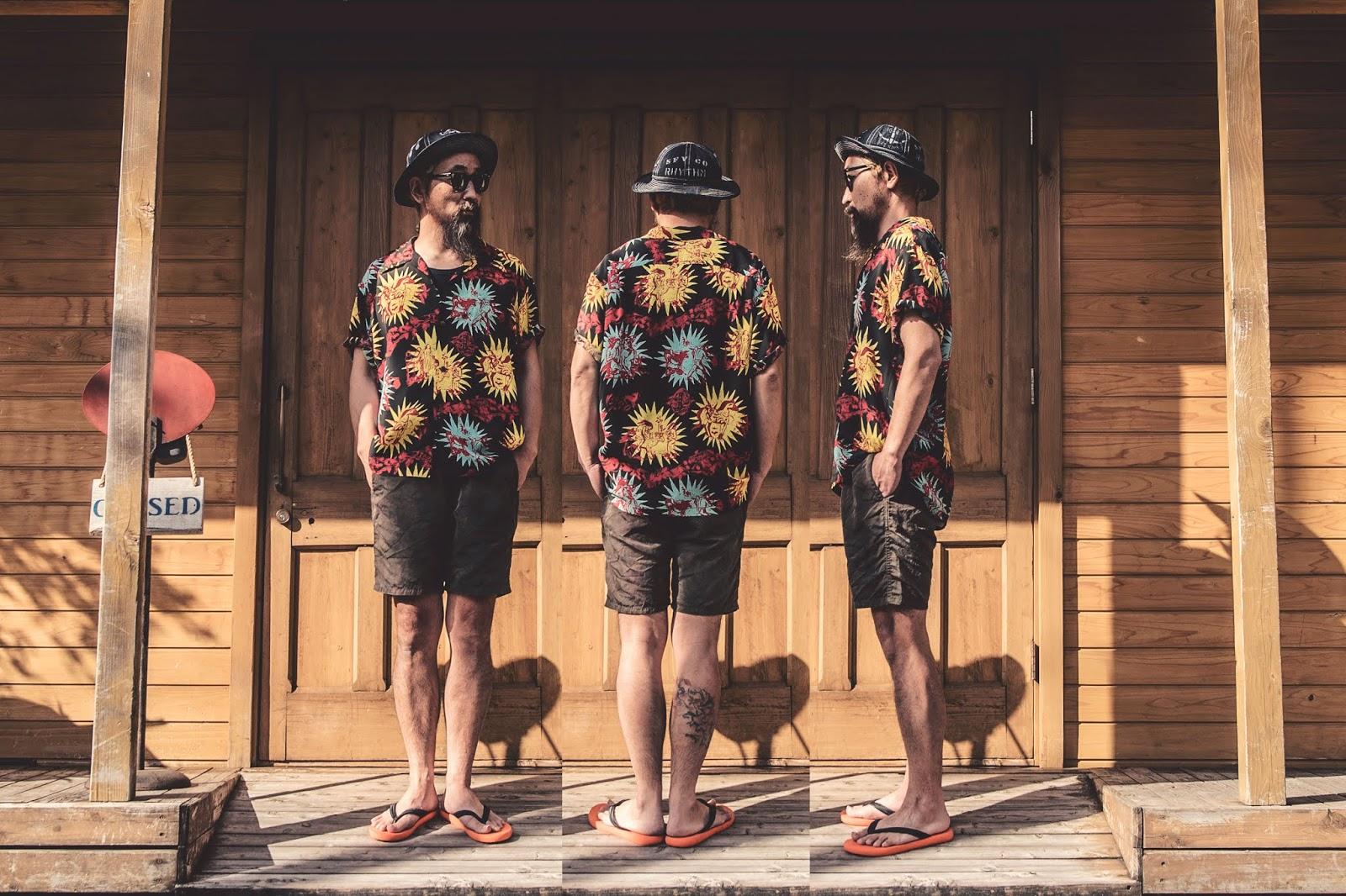 アロハ ヴィンテージ ハワイアン ゴーギャン ウッドカット ケオニ ジョンメイグス シャツ 東洋 サンサーフ アロハシャツ 日本製 シュガーケーン 着こなし コーディネート