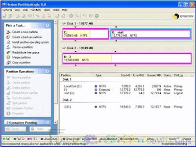 Norton Partition Magic 8.05 Boot CD + Serial