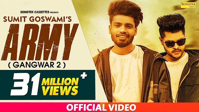Army Song lyrics : Sumit Goswami | Gangwar 2