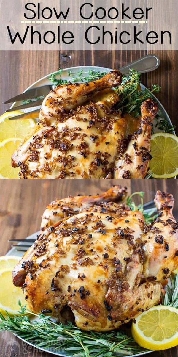 SLOW COOKER WHOLE CHICKEN #slowcooker
