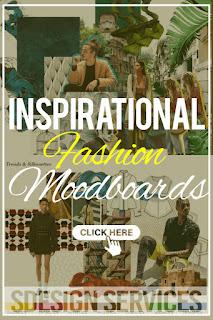 Profesional looking fashion mood board or inspiration mood board - Fashion moodboard
