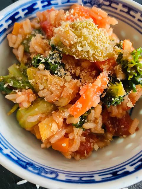 Winterlicher Gemüsereistopf, Rezept, glutenfrei, vegan, schnell, einfach, Winterrezept, schnelle Rezepte, was kochen, Reis, Gemüse, Wintergemüse