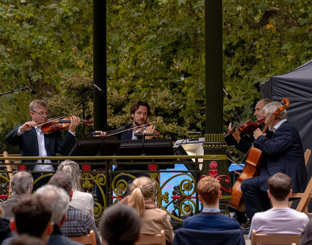 The Maggini Quartet in Battersea Park - Bandstand Chamber Festival (Photo William Marsey)