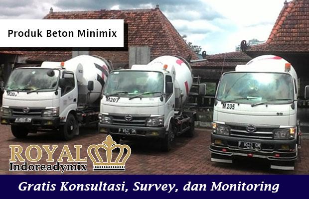 Harga Beton Minimix Mobil Ukuran Kecil